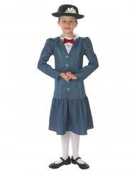 Mary Poppins™-Nanny Kinderkostüm Lizenz blau