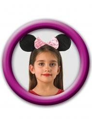 Minnie Maus™-Ohren mit Schleife Disney™-Haarreif schwarz-rosa
