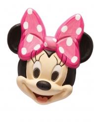 Minnie Maus™-Maske Disney™-Zubehör für Fasching schwarz-hautfarben-rosa