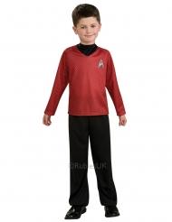 Scotty-Star Trek™ Kinderkostüm Lizenz schwarz-rot
