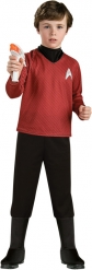 Star Trek™-Scotty Kinderkostüm Lizenz rot-schwarz