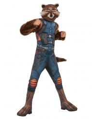 Rocket Raccoon™-Kostüm für Kinder Fasching braun-blau-orange