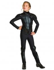 Katniss Everdeen™-Lizenzkostüm für Mädchen schwarz