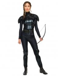 Katniss Everdeen™-Lizenzkostüm Hunger Games™ für Damen schwarz