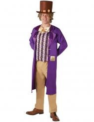 Willy Wonka™-Herrenkostüm Charlie und die Schokoladenfabrik Lizenz bunt