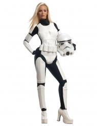 Stormtrooper™-Damenkostüm Star Wars™-Overall schwarz-weiss