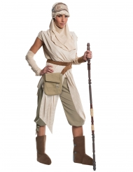 Star Wars™-Rey Damenkostüm Deluxe Lizenz-Verkleidung beige