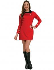 Star Trek™-Uhura-Kostüm für Damen Lizenz rot