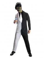 Arkham Knight™ Two Face Kostüm für Erwachsene schwarz-weiss
