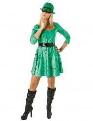 The Riddler™-Damenkostüm aus Batman Lizenz schwarz-grün