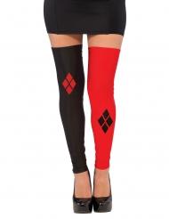 Harley Quinn™ Strümpfe für Damen schwarz-rot