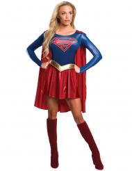 Heldenhaftes Supergirl™-Damenkostüm Lizenz rot-blau