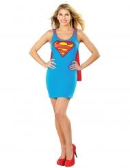 Supergirl™-Damenkostüm Lizenz Superheldin blau-rot-gelb