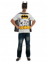 Batman™-T-Shirt Kostümzubehör für Erwachsene Lizenz weiss-gelb-schwarz