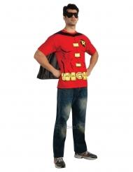 Robin™-T-Shirt mit Umhang und Maske für Herren rot-schwarz
