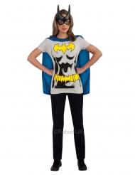 Batgirl™-T-Shirt Kostümzubehör für Damen braun-gelb-blau