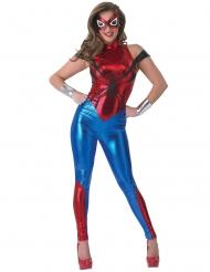 Spidergirl ™-Damenkostüm Lizenz-Verkleidung rot-blau-silber