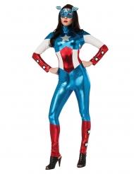 Miss America™-Lizenzkostüm für Damen Superheldin blau-weiss-rot