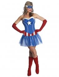 Marvel Miss America™-Damenkostüm blau-rot-weiss