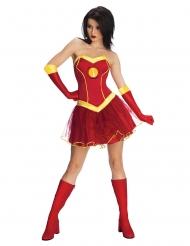 Iron Girl™-Lizenzkostüm für Damen Marvel rot-gelb