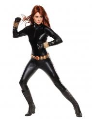 Black Widow™-Damen-Lizenzkostüm Overall schwarz-gold