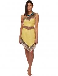 Pocahontas™-Lizenzkostüm für Damen Disney™ beige