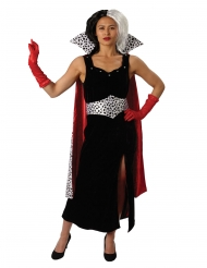 Cruella de Vil™-Damenkostüm Disney™-Lizenzkostüm schwarz-rot-weiss