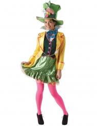 Verrückter Hutmacher™-Damenkostüm Lizenz Disney™-Verkleidung bunt