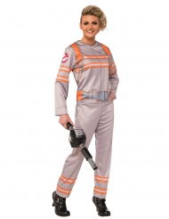 Ghostbusters™-Damenkostüm Lizenz-Verkleidung Overall beige-orange