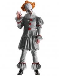 Es™-Horrorclown Kostüm für Herren grau-weiss-rot