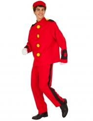 Spirou™-Kostüm für Herren Comic rot-gelb-schwarz