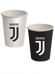 Juventus™-Becher 8 Stück schwarz-weiss 266ml