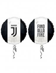 Juventus™-Folienballon schwarz-weiss 43cm