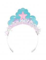 Meerjungfrauen-Krone aus Pappkarton für Mädchen bunt