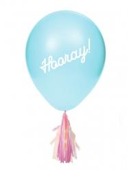 Luftballons-Partyzubehör mit Deko-Quasten 8 Stück blau 20,3cm