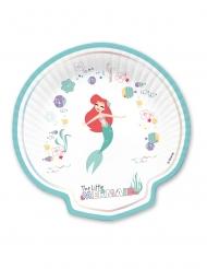 Arielle die Meerjungfrau™-Pappteller Kindergeburtstag 4 Stück bunt 24x24cm