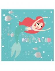 Arielle™-Die Meerjungfrau-Papierservietten Tischdeko 20 Stück bunt 33x33cm