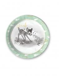 Bambi™-Disney Pappteller 8 Stück grün-grau 23cm