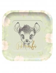 Originelle Bambi™-Pappteller 4 Stück 24x24cm bunt