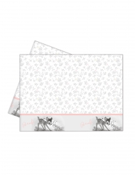 Disney™-Bambi Tischdecke Kindergeburtstag rosa-weiss 120x180cm