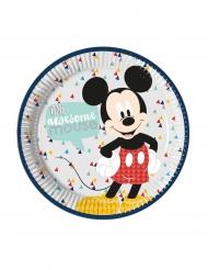 Mickey™-Pappteller Kindergeburtstag 8 Stück bunt 23 cm