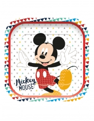 Mickey Maus™-Pappteller Partyzubehör 4 Stück bunt 24x24cm