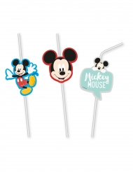 Mickey Maus™-Strohhalme Tischzubehör 6 Stück bunt
