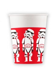 Star Wars™-Pappbecher Stormtrooper 8 Stück rot-weiss-schwarz 260ml