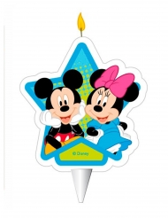 Disney Mickey Maus™-Geburtstagskerze Kuchendeko bunt 7,5cm