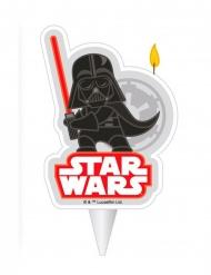 Darth Vader™-Kerze für Kindergeburtstage Kuchendeko schwarz-rot 7,5cm