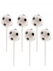 Fussball-Piekser Partydeko 6 Stück schwarz-weiss 2,3 cm