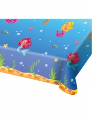 Meerjungfrau-Tischdecke Kindergeburtstag bunt 180x130cm