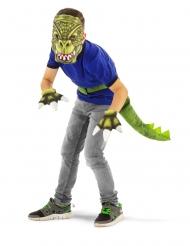 Dinosaurier Kostüm-Set für Kinder 4-Teilig grün