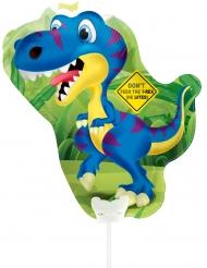 Dinosaurier Folienballon grün-blau 32 x 27 cm